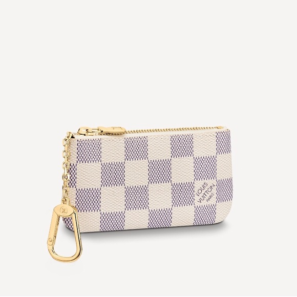 Authentic Louis Vuitton lv Damier Azur key pouch